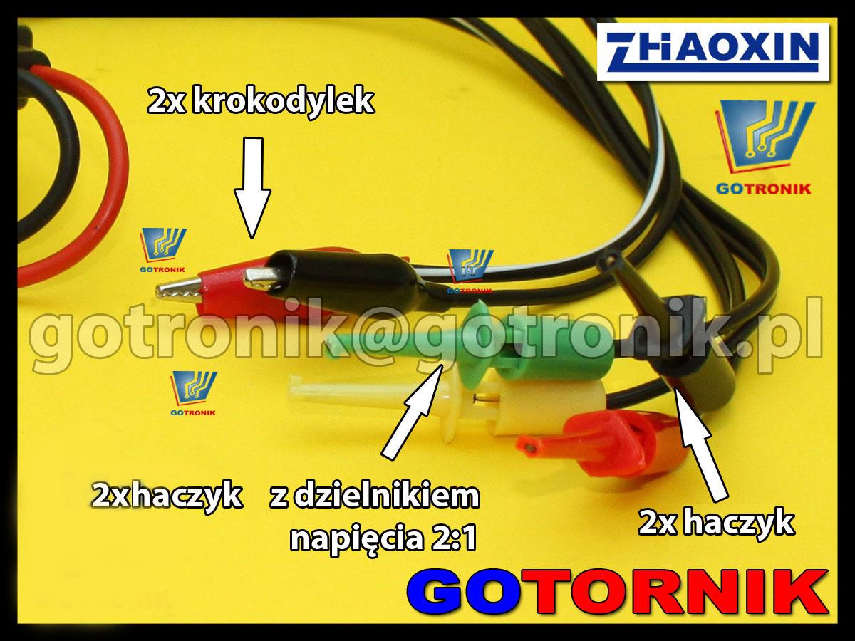 P-019 przewód kabel serwisowy do zasilania wtyk banan 4mm haczyk krokodyl