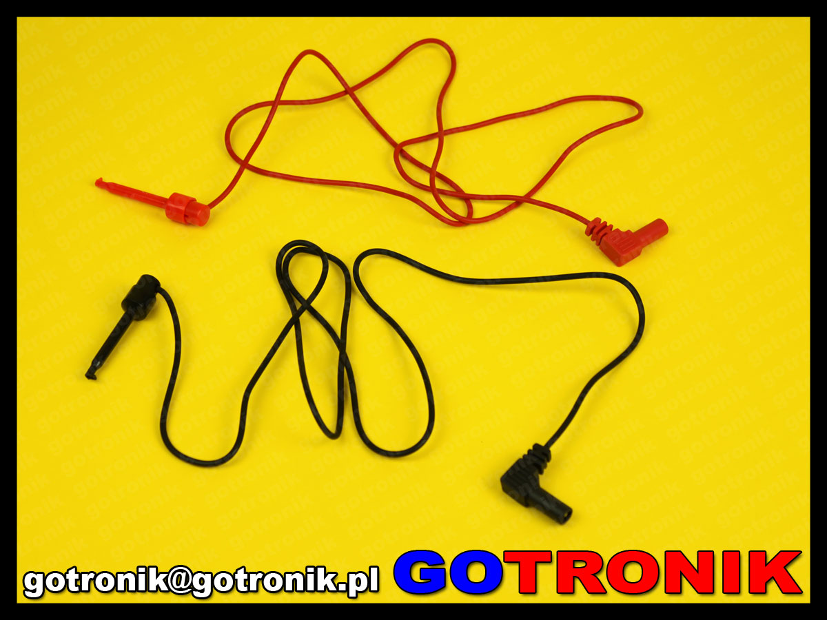 P-025 przewód kabel serwisowy do zasilania wtyk banan 4mm haczyk