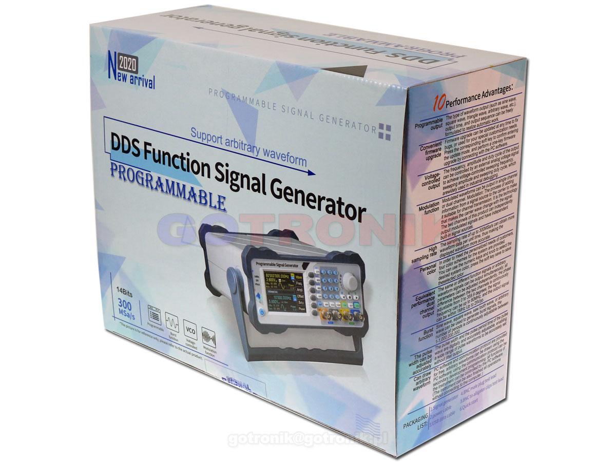 PSG9080 generator funkcyjny 80MHz Juntek dwukanałowy DDS