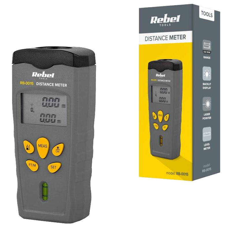 Miernik dystansu REBEL RB-0015 dalmierz ze wskaźnikiem laserowym