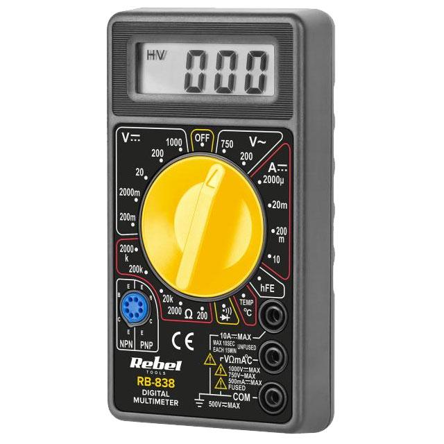 miernik uniwersalny typu multimetr cyfrowy RB-838