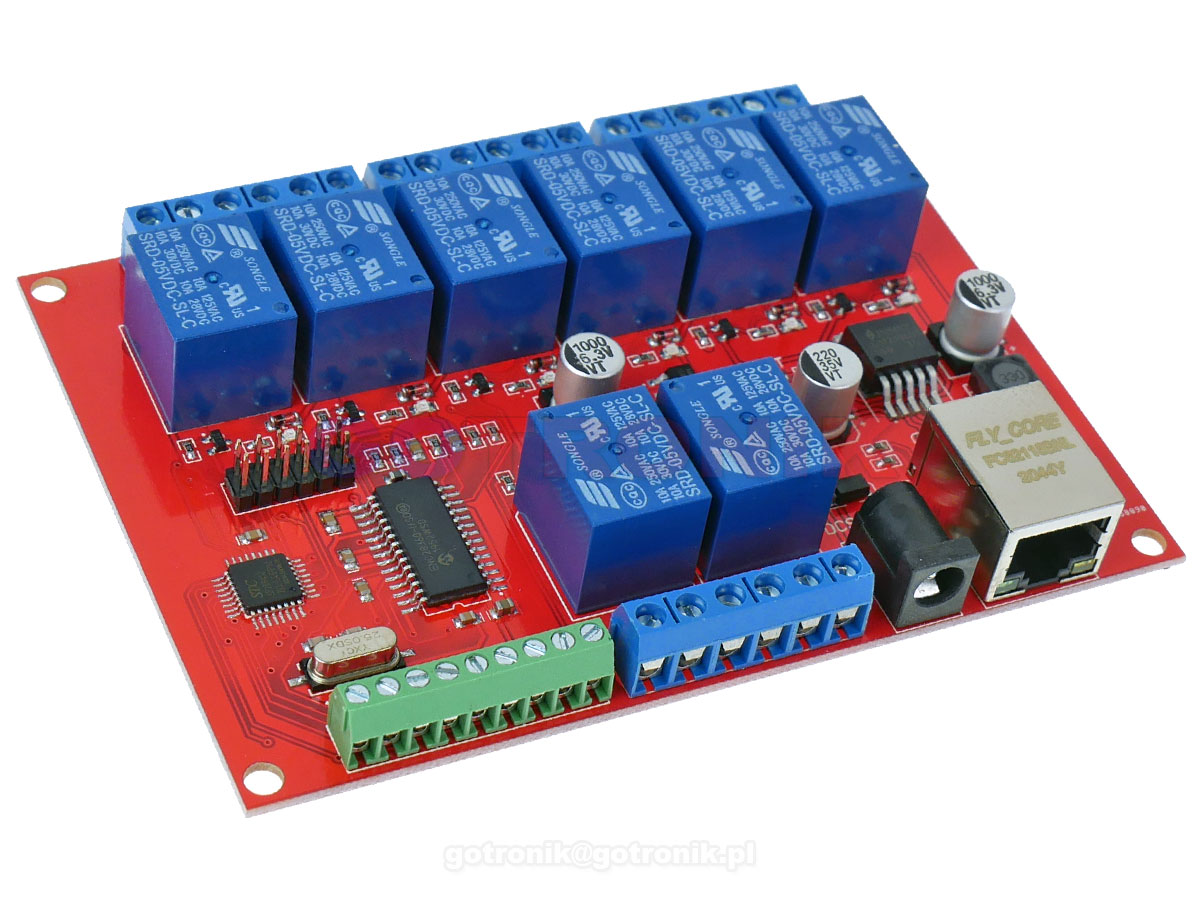 Moduł 8 przekaźników sterowanych przez LAN Ethernet RBS-003