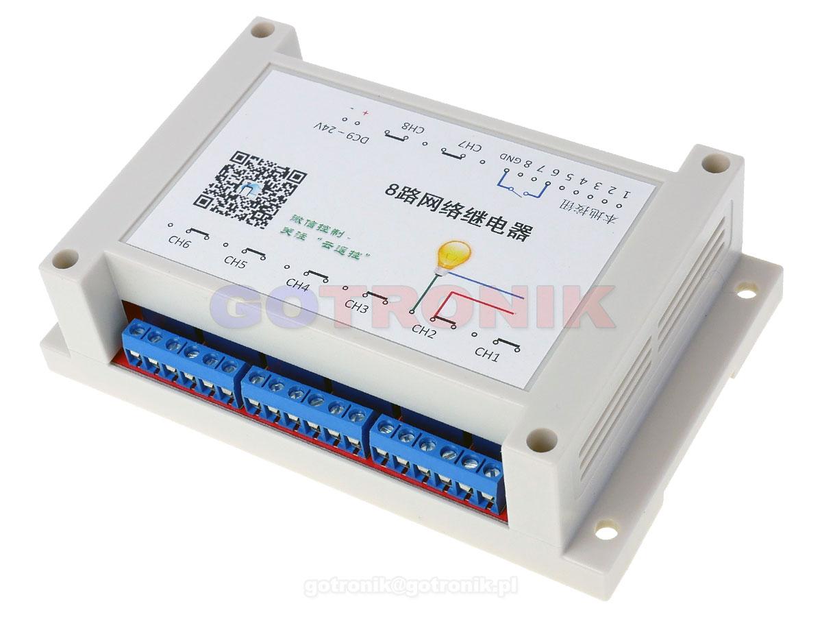 SR-311-WIFI 8-kanałowy przekaźnik WIFI przekaźnik rs485, bramka Modbus RBS-004