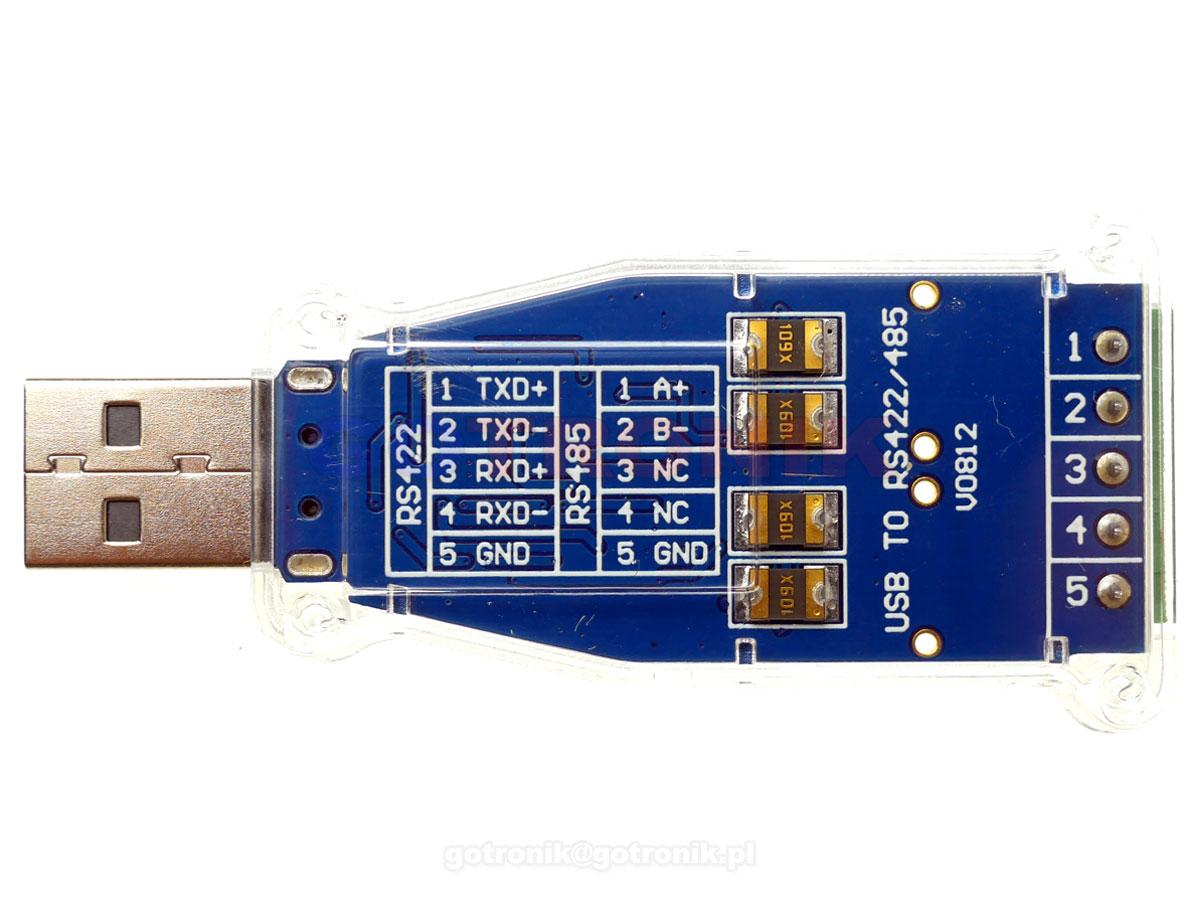 USB - RS485/RS422 konwerter na FT232RL FTDI z przewodem RBS-035 RBS035