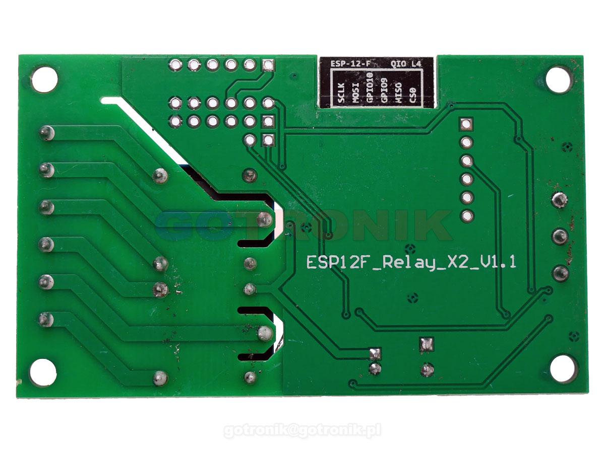 Moduł 2 przekaźniki z sterowanie WiFi ESP-12F wersja 5V/7-30V RBS-044 RBS044