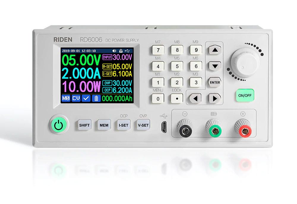 RD6006 Riden moduł zasilacz laboratoryjny regulowany mikroprocesorowo 0V do 60V 6A 360W