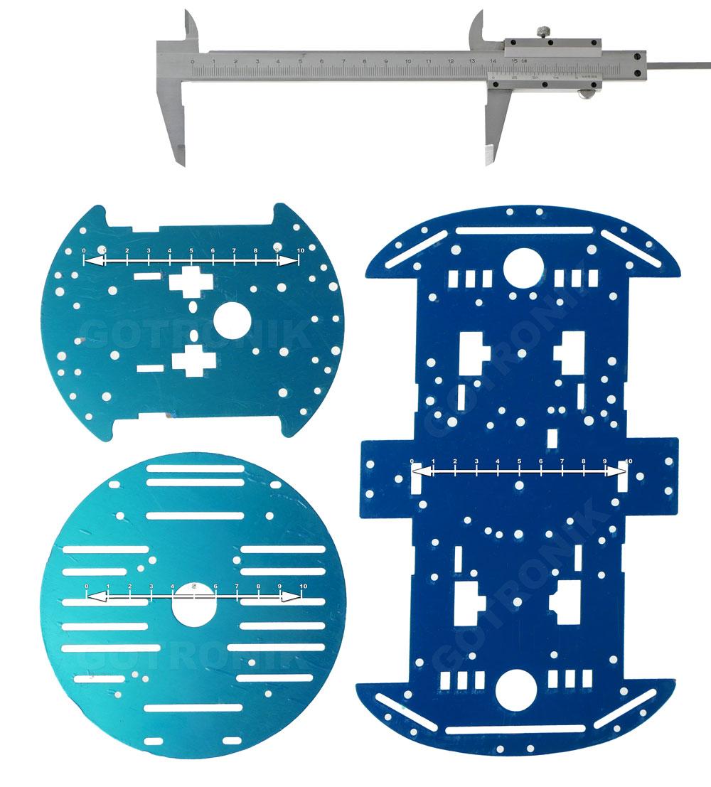 Porównanie aluminiowych podwozi do budowy robotów platform