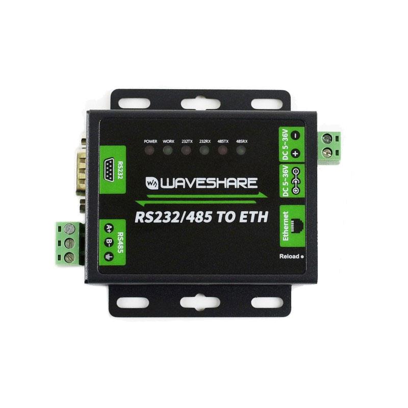 adapter konwerter przejściówka interfejsu szeregowego RS232 / RS485 na Ethernet WAVESHARE