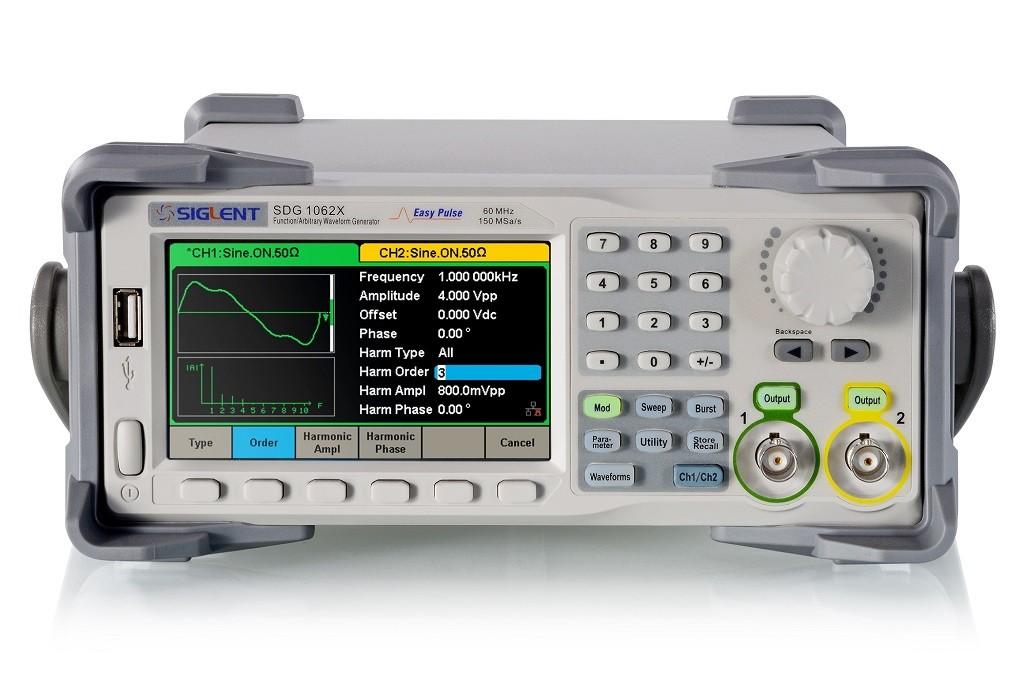 SDG1062X Siglent generator funkcyjny DDS 60MHz arbitralny
