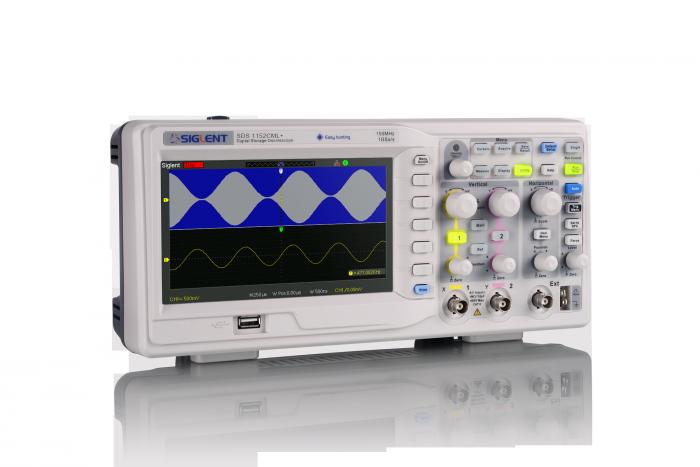 SDS1102CML+ oscyloskop cyfrowy dwukanałowy 100MHz Siglent uniwersalny LCD z kolorowym ekranem