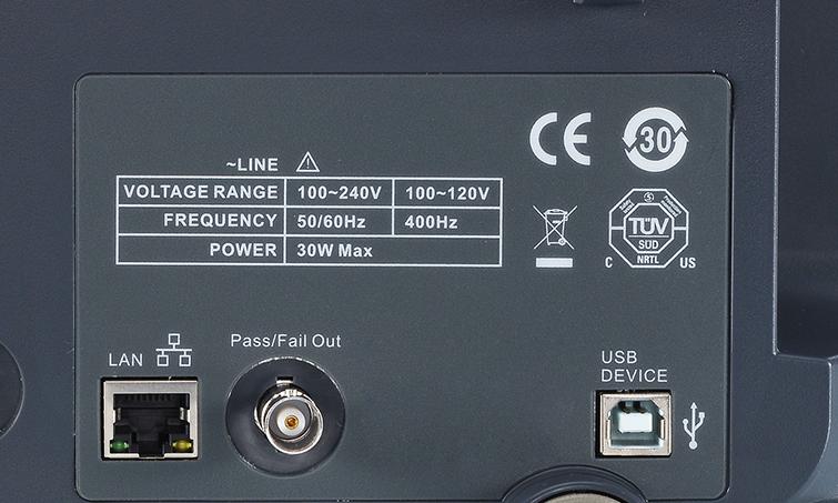 złacze LAN oscyloskop SDS1102CML+
