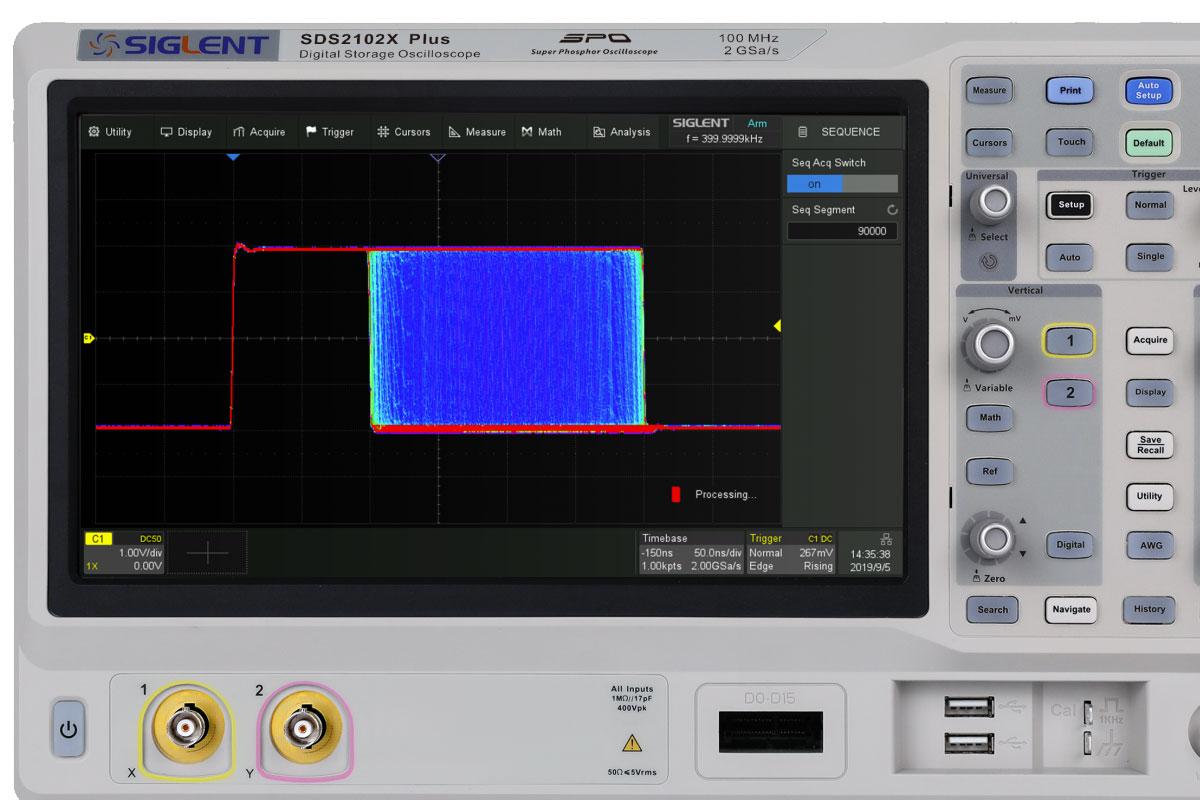 SDS2354X Plus oscyloskop cyfrowy 4x300MHz SIGLENT