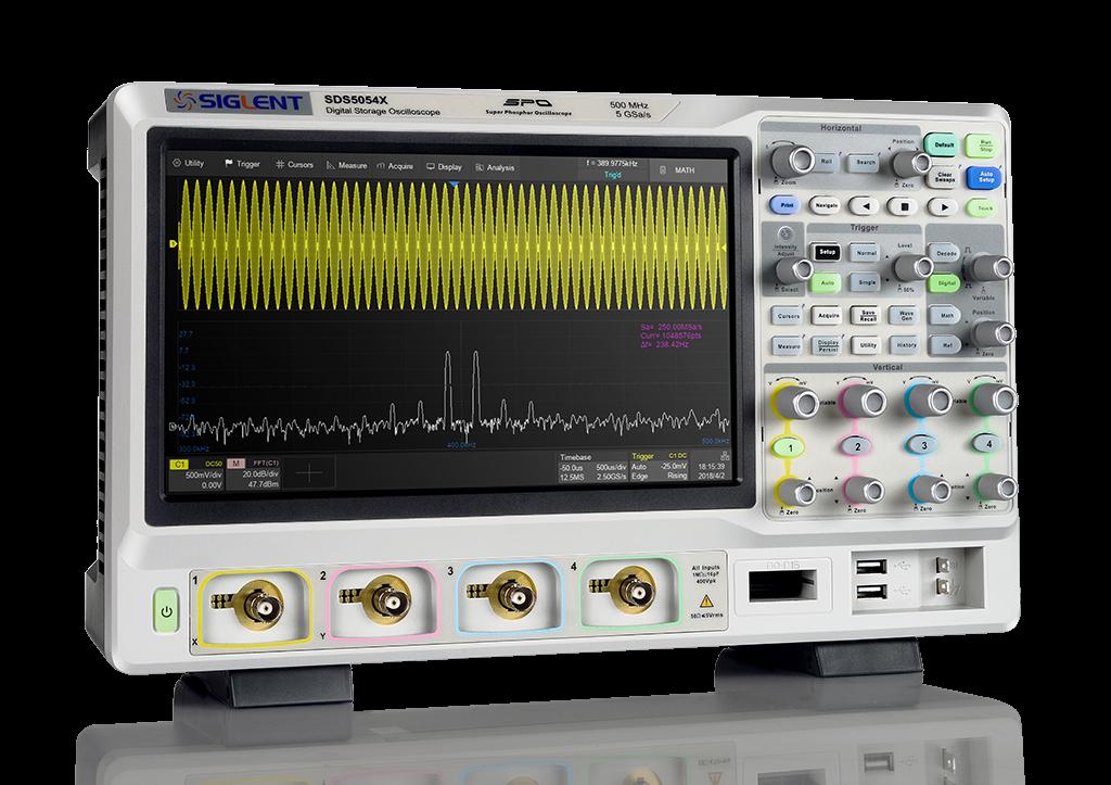 SDS5102X Siglent oscyloskop dwykanałowy 2 x 1000MHz, 1GHz, 5GSa/s, 250Mpts, SPO, LCD-TFT 10,1cala 1024x600