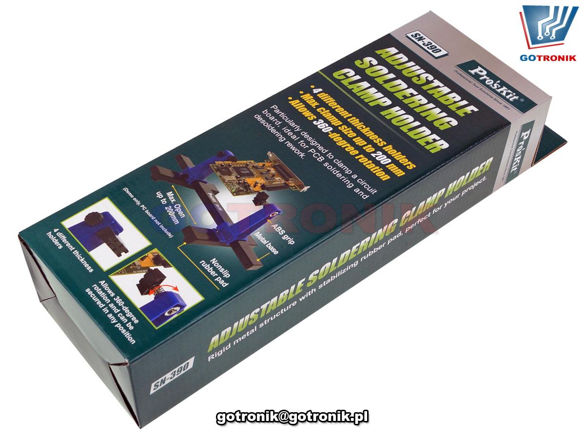Uchwyt montażowy płytek drukowanych PCB do lutowania SN-390 Pro'skit