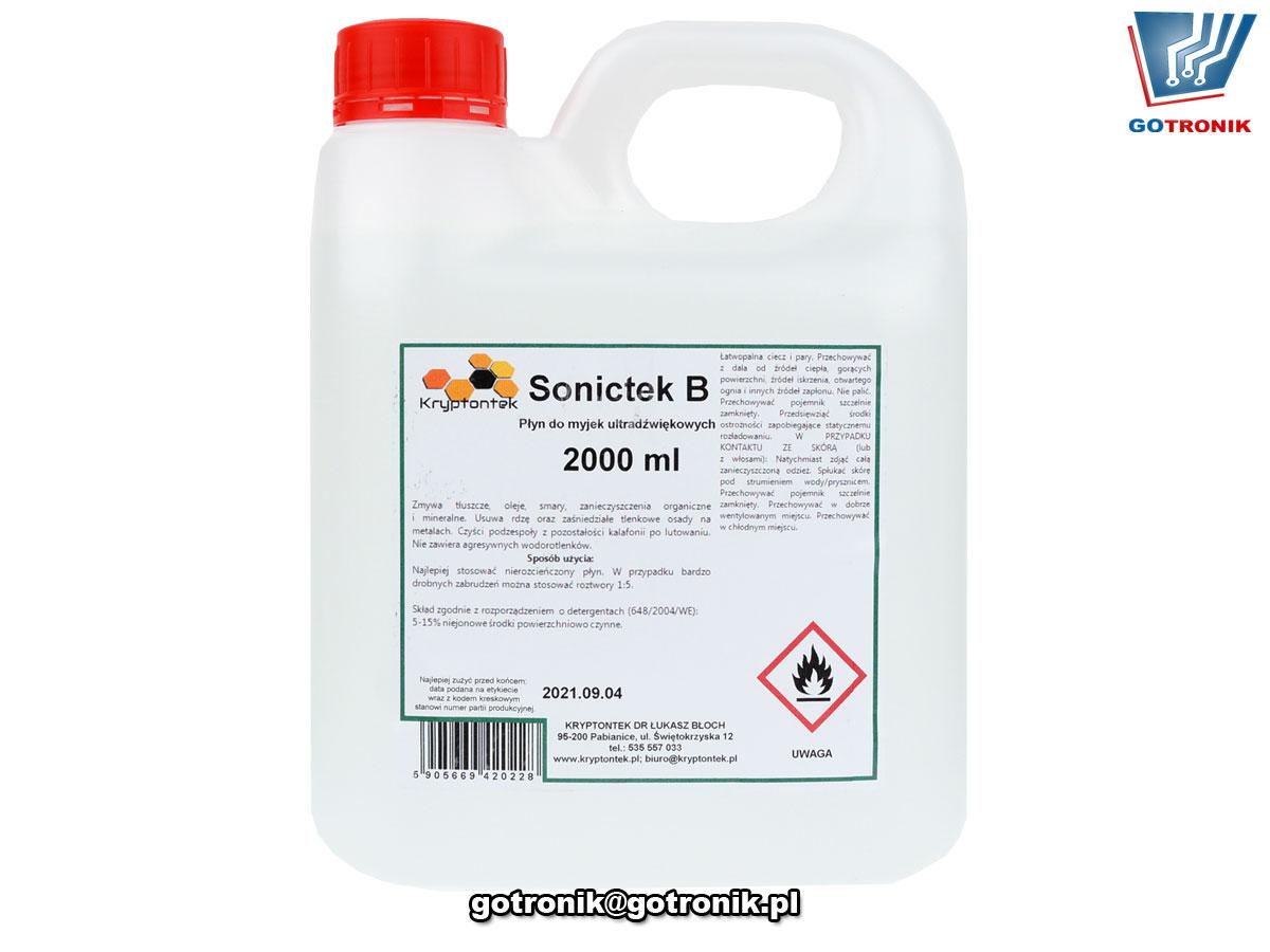 Sonictek B wielozadaniowy płyn do myjek ultradźwiękowych 2L CHEM-039