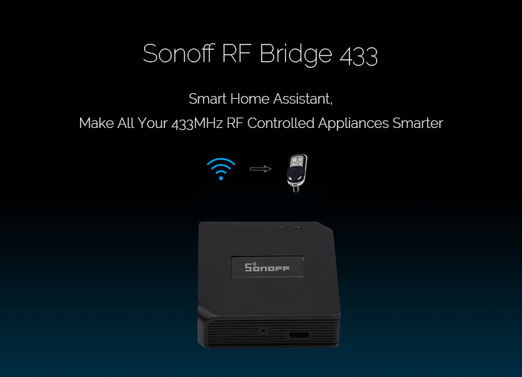 Sonoff RF Bridge 433MHz IM170619001 konwerter na WiFi