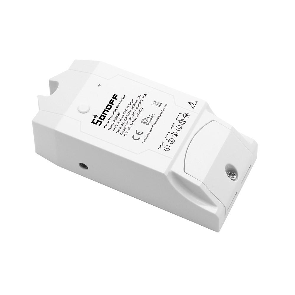 Sonoff Pow R2 przełącznik sterowany zdalnie przez Wifi z pomiarem: mocy, prądu, napięcia 3500W 15A IM171130001