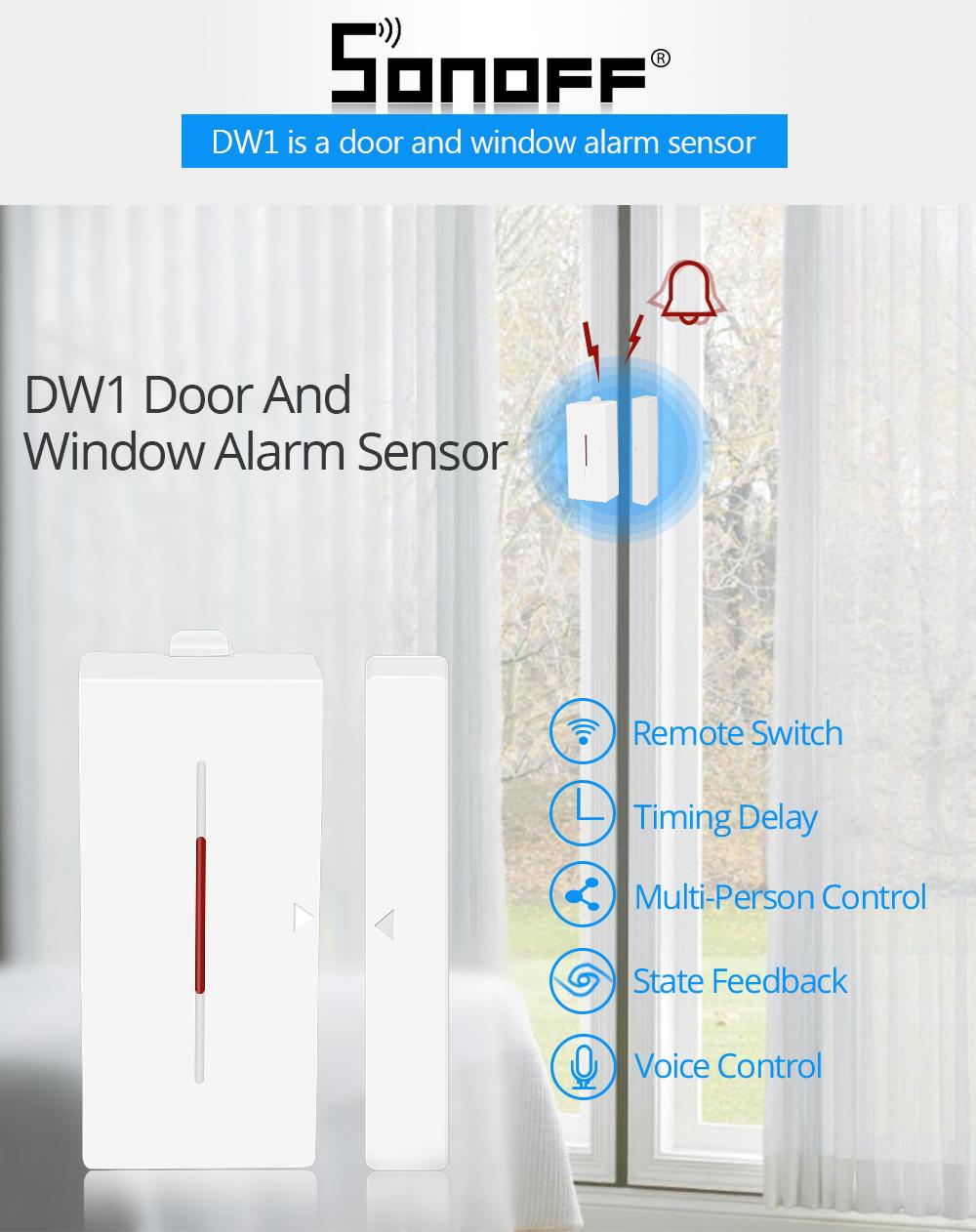 SONOFF DW1 czujnik otwarcia okna drzwi IM170811005