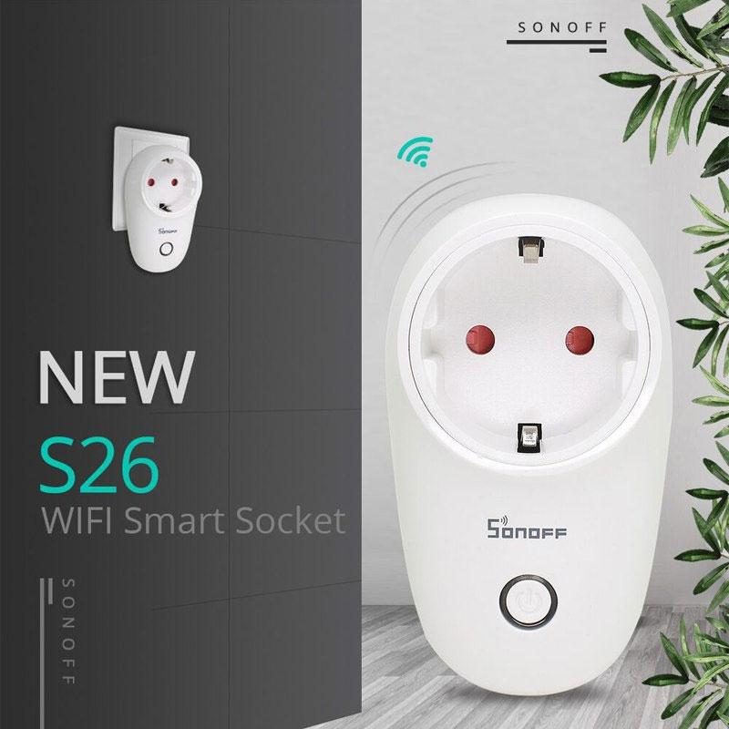 Sonoff S26 gniazdko elektryczne 230V sterowane z WiFi IM180320003 S26 EU-E