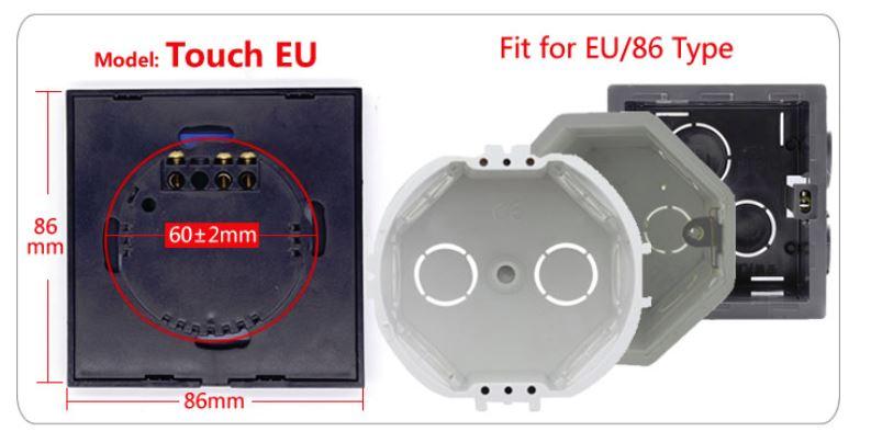 Sonoff T1 EU 1C dotykowy przełącznik światła z sterowaniem WiFi i pilot 433MHz wersja 1 kanałowa IM171018002