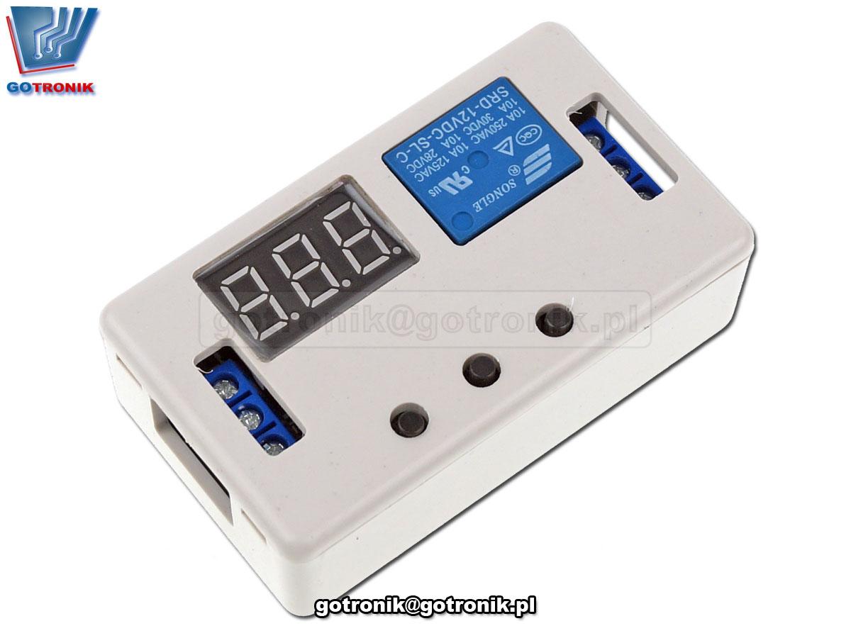przekaźnik czasowy, czasówka, timer, programator czasowy, przekaźnik z układem czasowym, układ opóźnionego załączenia, włącznik czasowy, wyłącznik czasowy, moduł opóźnionego włącznika, układ z odliczaniem czasu załączenia, cykliczne załączanie lub włączanie