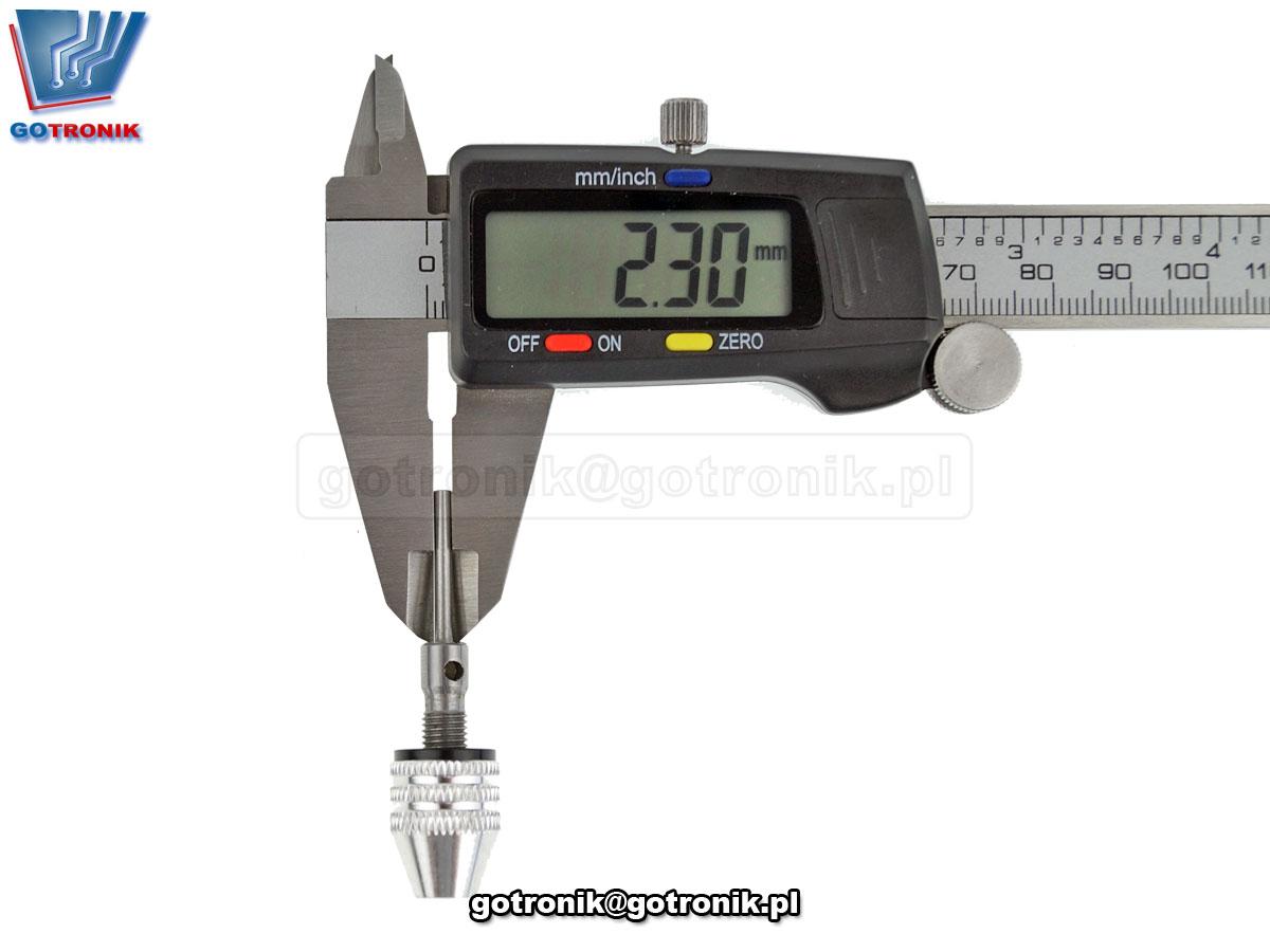 Uchwyt samozaciskowy 0,3 - 3,4mm do wiertarki adapter wałek średnica 2,35mm
