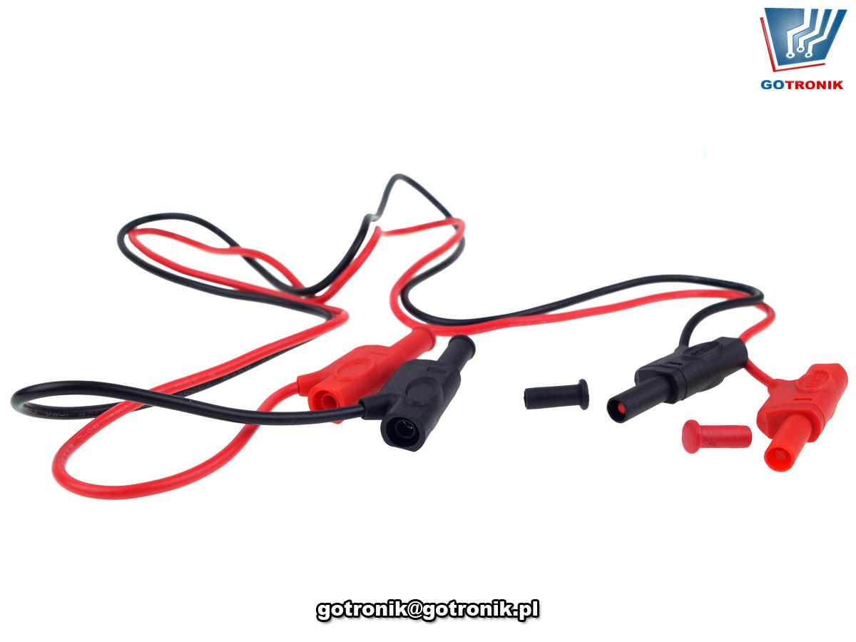 UT-L12 przewód banan 4mm prosty pomiarowy kabel CAT III 1000V 10A lamelkowy lamelkowe