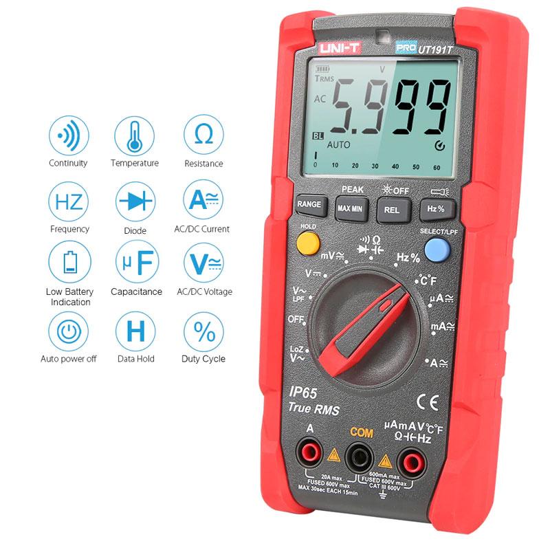 Ut191t pro, miernik uniwersalny, multimetr cyfrowy, miernik profesjonalny, multimetr przemysłowy, unit,