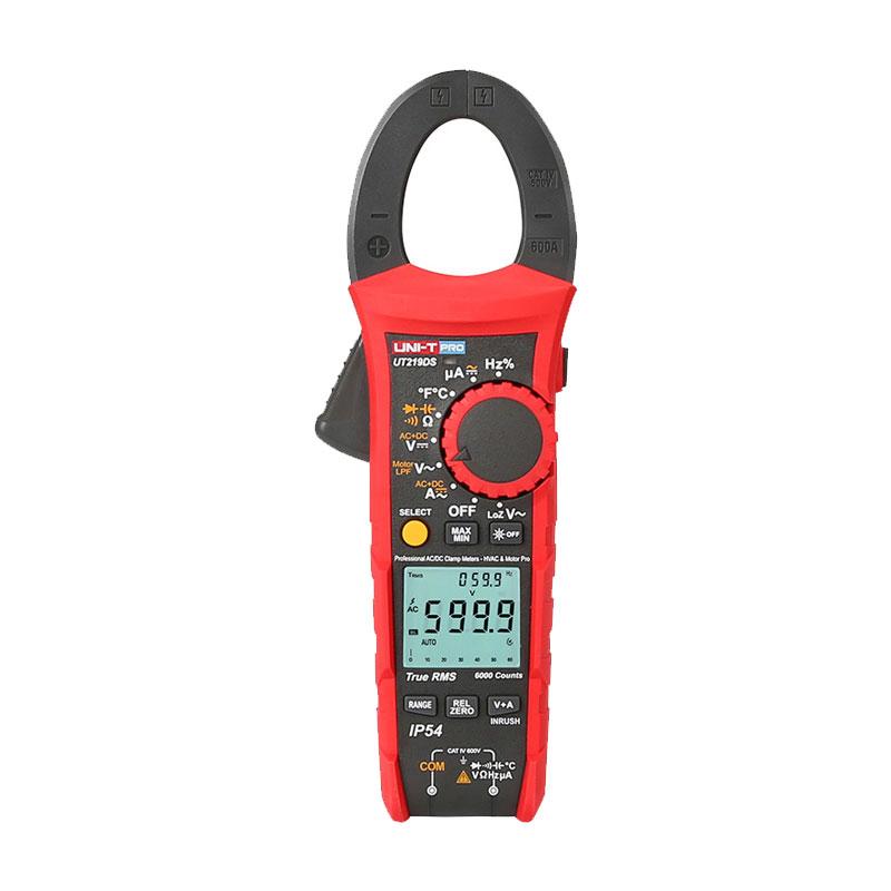 UT219DS Unit pro miernik cęgowy 600A AC DC True Rms wartość skuteczna multimetr cyfrowy UT-219DS