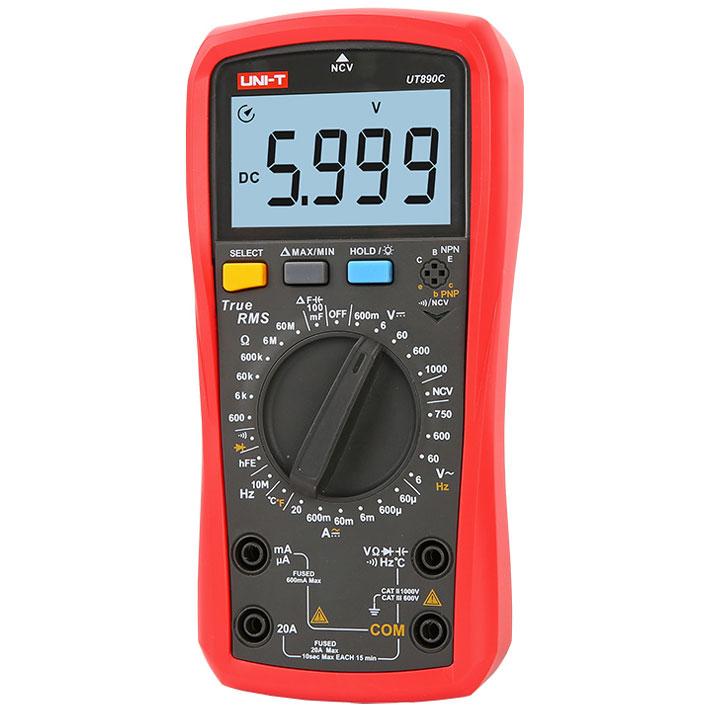 UT890C NCV multimetr uniwersalny cyfrowy miernik True RMS Uni-t MIE0398 5901890056236