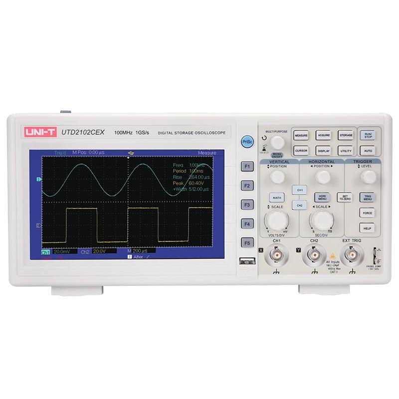 UTD2102CEX Unit oscyloskop cyfrowy dwukanałowy 2x100MHz LCD USB