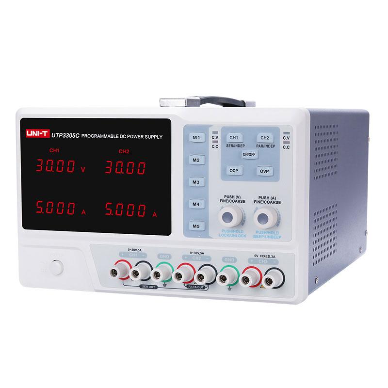 UTP3305 zasilacz laboratoryjny symetryczny DC liniowy potrójny Unit-t