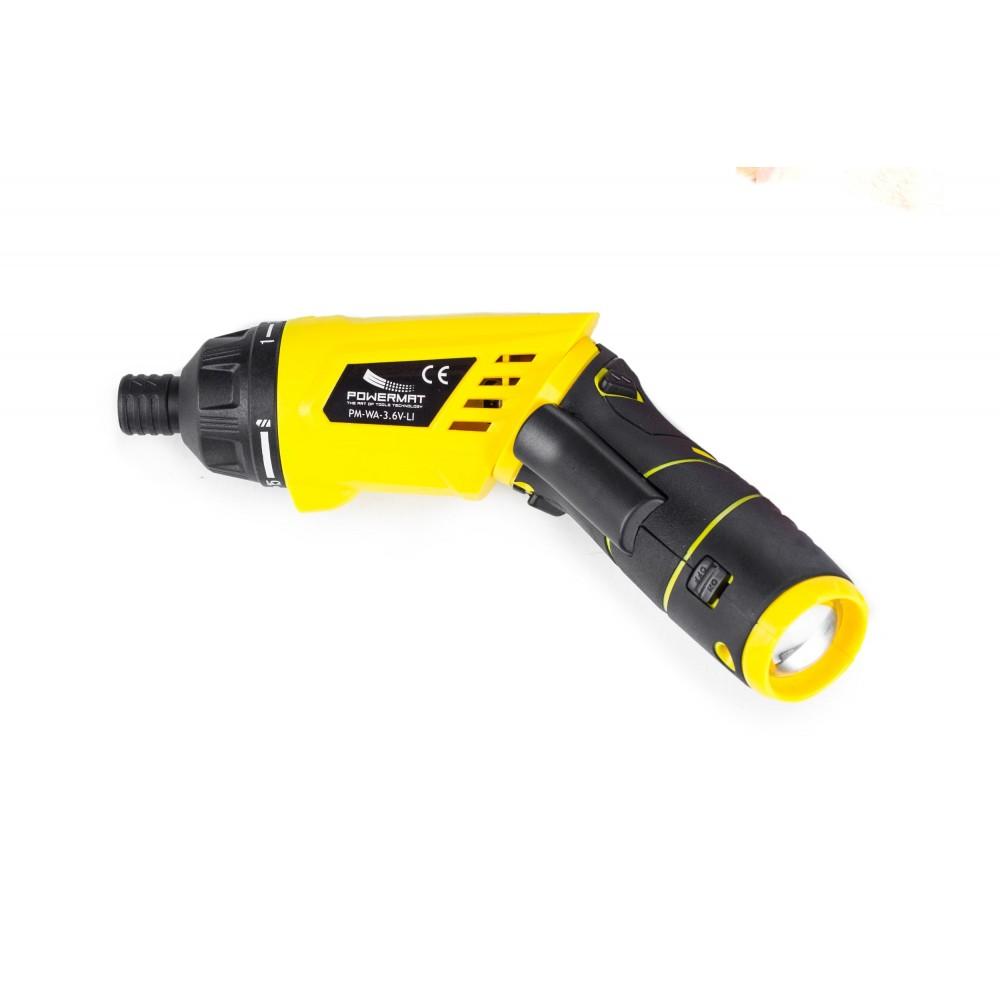 Wkrętak akumulatorowy 3,6V łamany + walizka PM-WA-3,6V-LI