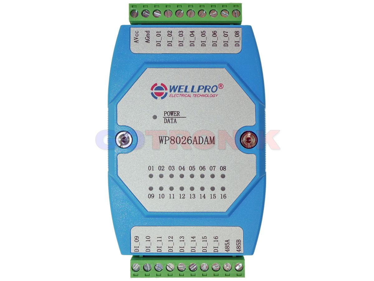 WP8026ADAM 16DI 16 wejść cyfrowych Digital Input WELLPRO RS485 Modbus RTU
