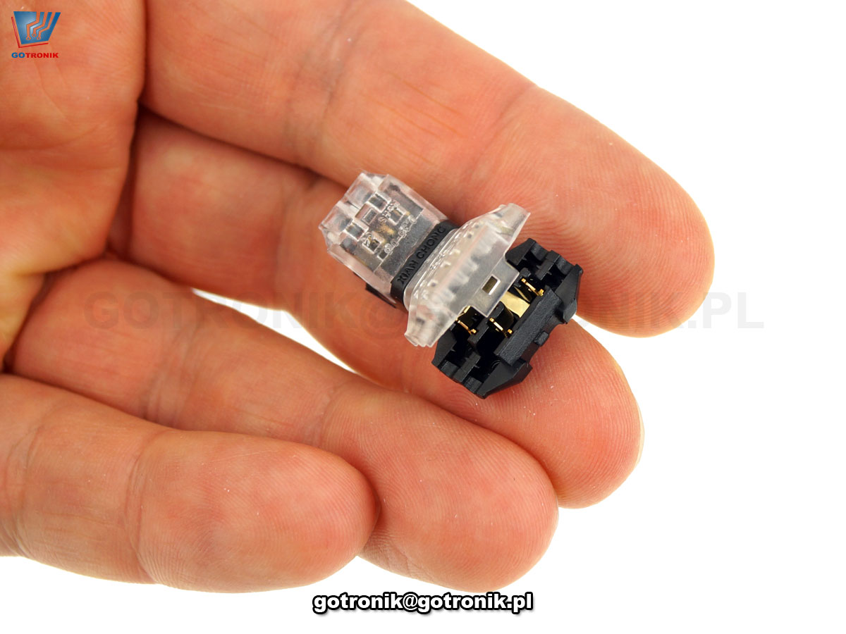szybkozłączka szybkołącze elektryczne, listwa zaciskowa, 6pin, Z304