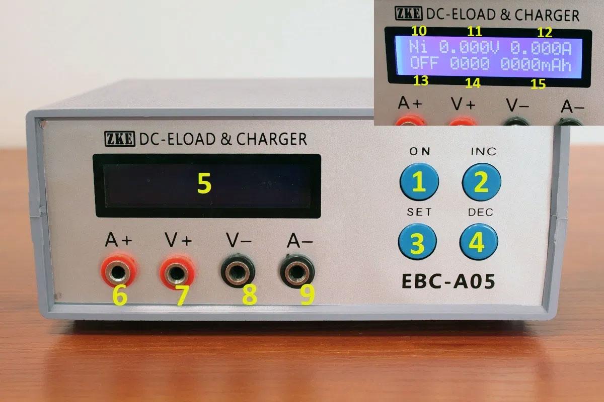 EBC-A05 Elektroniczny tester akumulatora baterii ogniw pod obciążeniem, testowanie zasilania zasilaczy, elektroniczne obciążenie z funkcją ładowania ZKE EB Tester Software