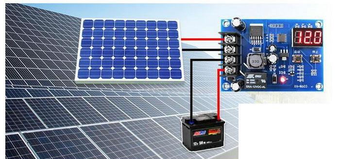 BTE-104 kontroler regulator ładowania ładowarki akumulatora 12V z przekaźnikiem mikroprocesorowy XH-M603