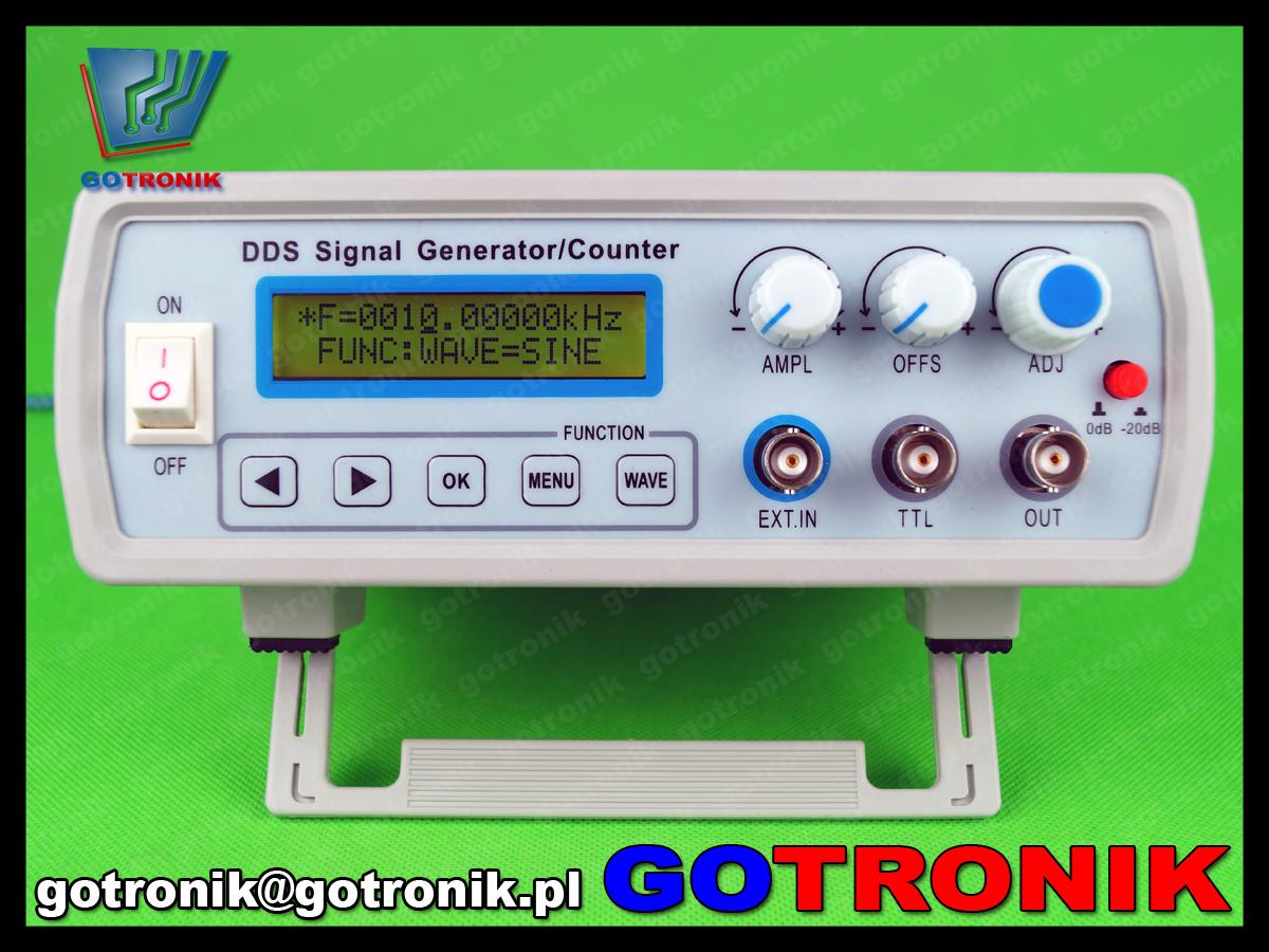 FY2102S FY2100S FeelTech generator funkcyjny DDS 2MHz laboratoryjny sin sweep LCD