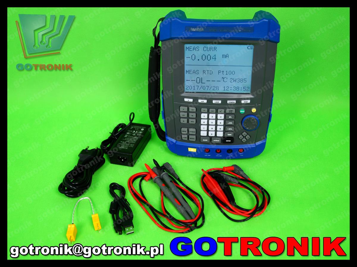 HT824 hantek kalibrator wielofunkcyjny, zadajnik napięcia prądu pętli prądowej rezystancji, kalibrator termopar HANTEK HT-824