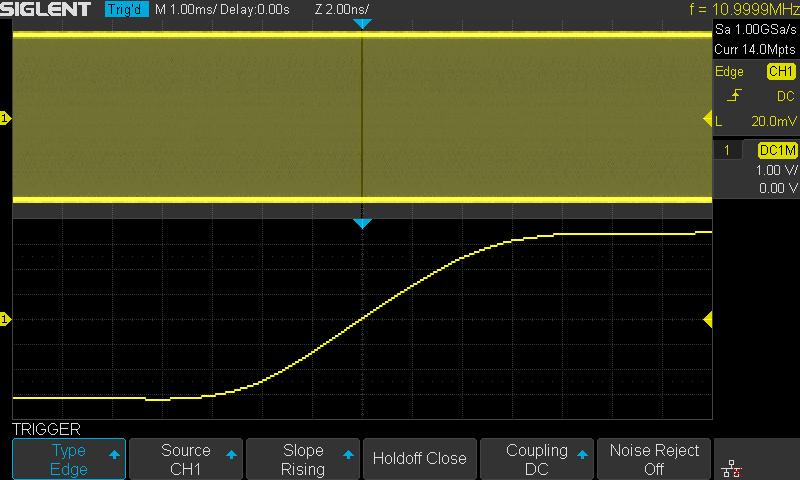 SDS1202XE oscyloskop cyfrowy: długość rekordu pamięci 14 Mpts