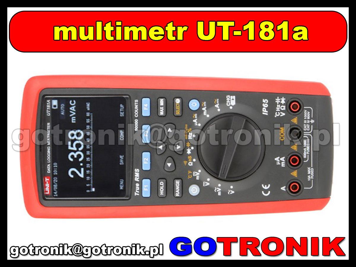 UT181a, multimetr, miernik cyfrowy, dmm, true rms, miernik uniwersalny, ut-181a, ut-181-a, datalogger, rejestrator, unit